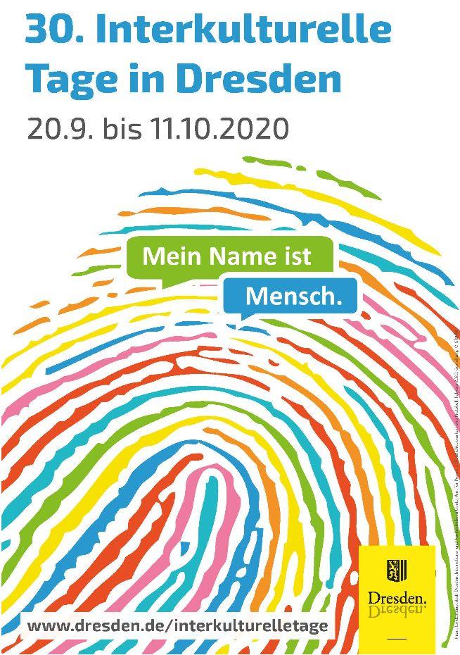 Plakat der Interkulturellen Tage Dresden 2020